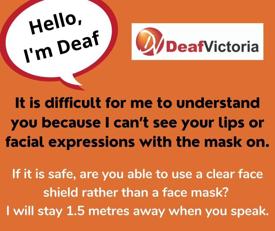 Deaf Victoria - Mask Graphic for Deaf - Colour #1 card
