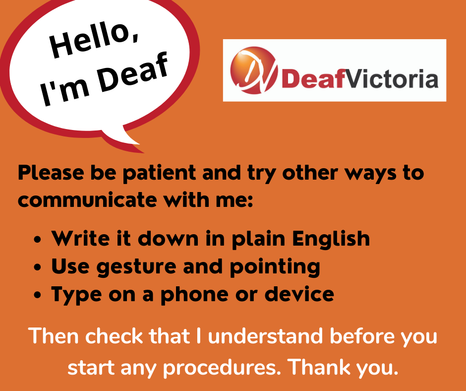 Deaf Victoria - Mask Graphic for Deaf - Colour #2 card